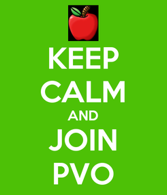 Poster: KEEP CALM AND JOIN PVO