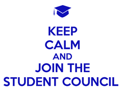 Poster: KEEP CALM AND JOIN THE STUDENT COUNCIL