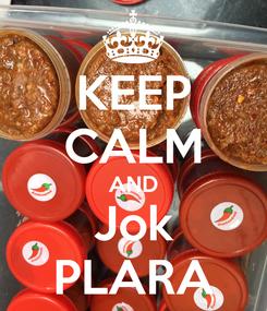 Poster: KEEP CALM AND Jok PLARA