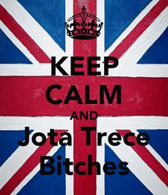 Poster: KEEP CALM AND Jota Trece Bitches