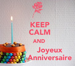 Poster:   KEEP   CALM   AND            Joyeux            Anniversaire