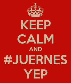 Poster: KEEP CALM AND #JUERNES YEP