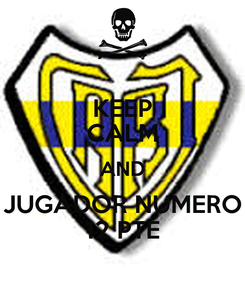 Poster: KEEP CALM AND JUGADOR NUMERO 12 PTE