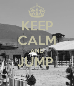 Poster: KEEP CALM AND JUMP