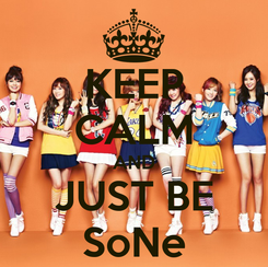Poster: KEEP CALM AND JUST BE SoNe