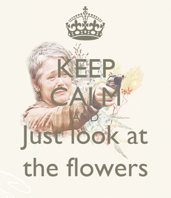 Poster: KEEP CALM AND Just look at the flowers