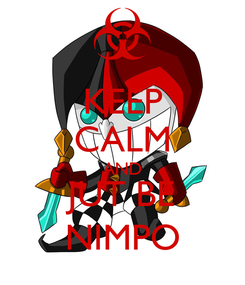 Poster: KEEP CALM AND JUT BE NIMPO