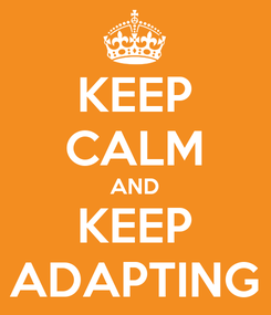 Poster: KEEP CALM AND KEEP ADAPTING