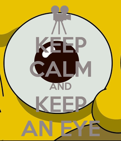Poster: KEEP CALM AND KEEP AN EYE