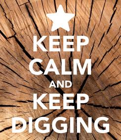 Poster: KEEP CALM AND KEEP DIGGING