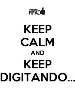 Poster: KEEP CALM AND KEEP DIGITANDO...