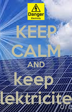 Poster: KEEP CALM AND keep  elektriciteit