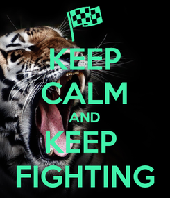 Poster: KEEP CALM AND KEEP  FIGHTING