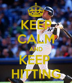 Poster: KEEP CALM AND KEEP  HITTING