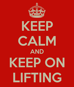 Poster: KEEP CALM AND KEEP ON LIFTING