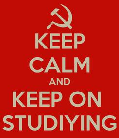 Poster: KEEP CALM AND KEEP ON  STUDIYING