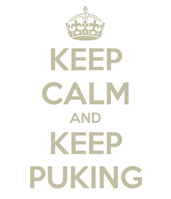 Poster: KEEP CALM AND KEEP PUKING
