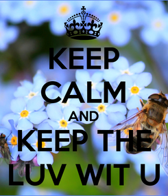 Poster: KEEP CALM AND KEEP THE LUV WIT U