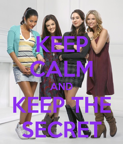 Poster: KEEP CALM AND KEEP THE SECRET