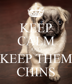 Poster: KEEP CALM AND KEEP THEM CHINS
