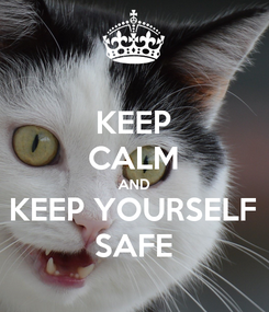 Poster: KEEP CALM AND KEEP YOURSELF SAFE