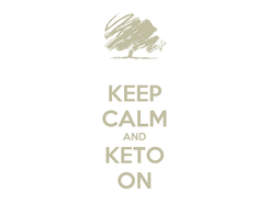 Poster: KEEP CALM AND KETO ON