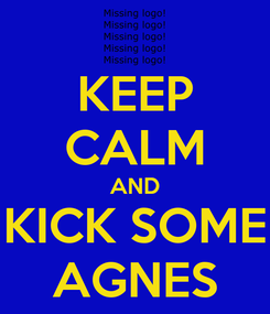 Poster: KEEP CALM AND KICK SOME AGNES