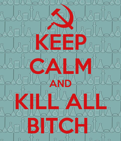 Poster: KEEP CALM AND KILL ALL BITCH
