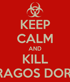 Poster: KEEP CALM AND KILL DRAGOS DORIN