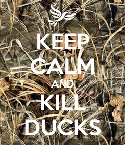 Poster: KEEP CALM AND KILL DUCKS