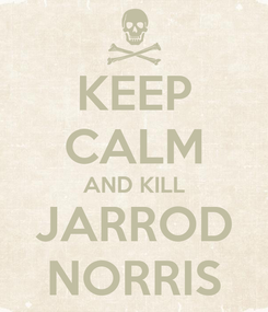 Poster: KEEP CALM AND KILL JARROD NORRIS