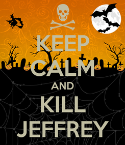 Poster: KEEP CALM AND KILL JEFFREY