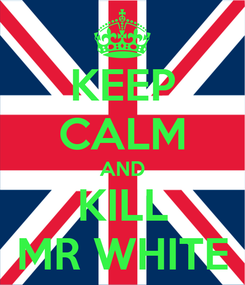 Poster: KEEP CALM AND KILL MR WHITE