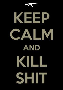 Poster: KEEP CALM AND KILL SHIT