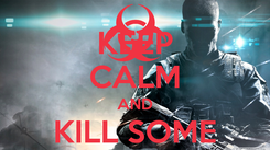 Poster: KEEP CALM AND KILL SOME ZOMBIES