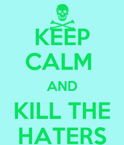 Poster: KEEP CALM  AND KILL THE HATERS