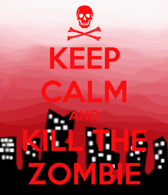 Poster: KEEP CALM AND KILL THE ZOMBIE