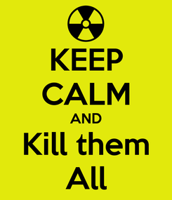 Poster: KEEP CALM AND Kill them All