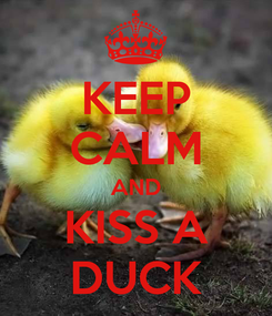 Poster: KEEP CALM AND KISS A DUCK