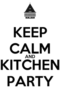 Poster: KEEP CALM AND KITCHEN PARTY