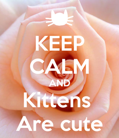 Poster: KEEP CALM AND Kittens  Are cute