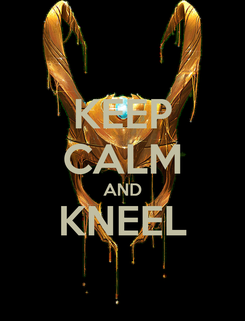Poster: KEEP CALM AND KNEEL