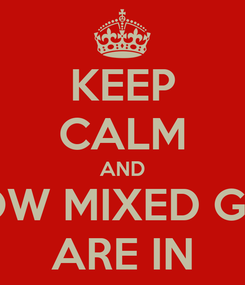 Poster: KEEP CALM AND KNOW MIXED GUYS ARE IN