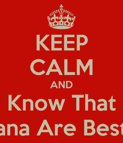 Poster: KEEP CALM AND Know That Me & Diana Are Best Friends
