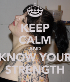 Poster: KEEP CALM AND KNOW YOUR STRENGTH