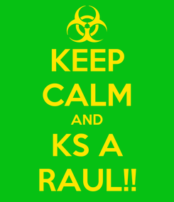 Poster: KEEP CALM AND KS A RAUL!!