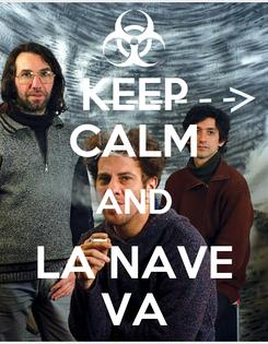Poster: KEEP CALM AND LA NAVE VA