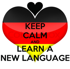 Poster: KEEP CALM AND LEARN A NEW LANGUAGE