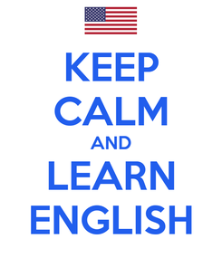 Poster: KEEP CALM AND LEARN ENGLISH