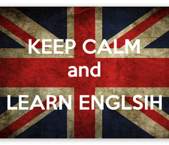 Poster: KEEP CALM and  LEARN ENGLSIH